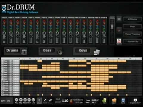 Making Sick Beats With Dr Drum Beat Making Software Music Beats Dubstep Music Rap Beats