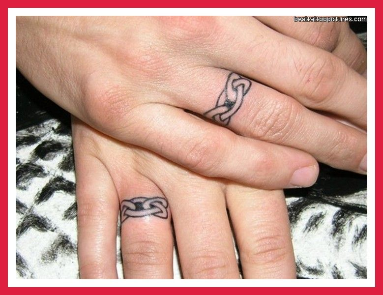 Infinity Wedding Ring Tattoos: Infinity Tattoos On The Ring Finger For Bride And Groom