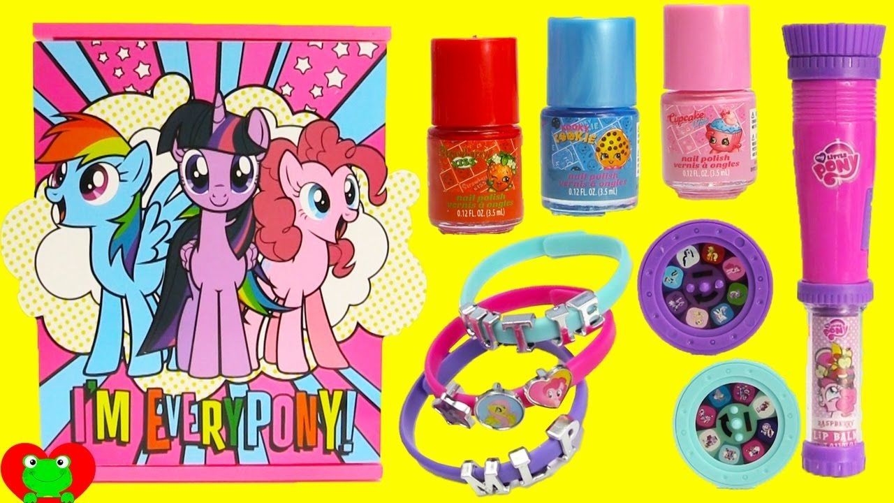 My Little Pony Jewelry Box Simple My Little Pony Jewelry Box With Nail Polish And Lip Gloss Surprises 2018