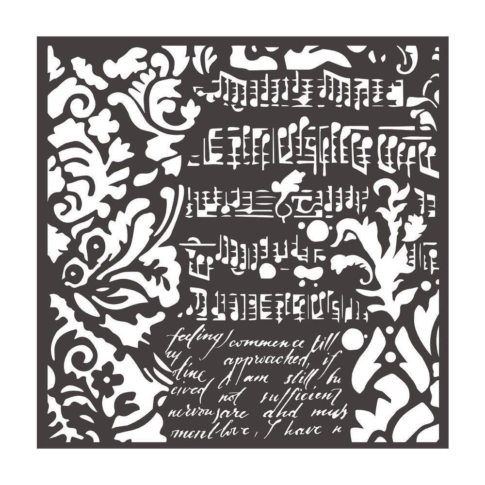 "Stamperia 7/"" x 7/"" Stencil Flowers /& Leaves"