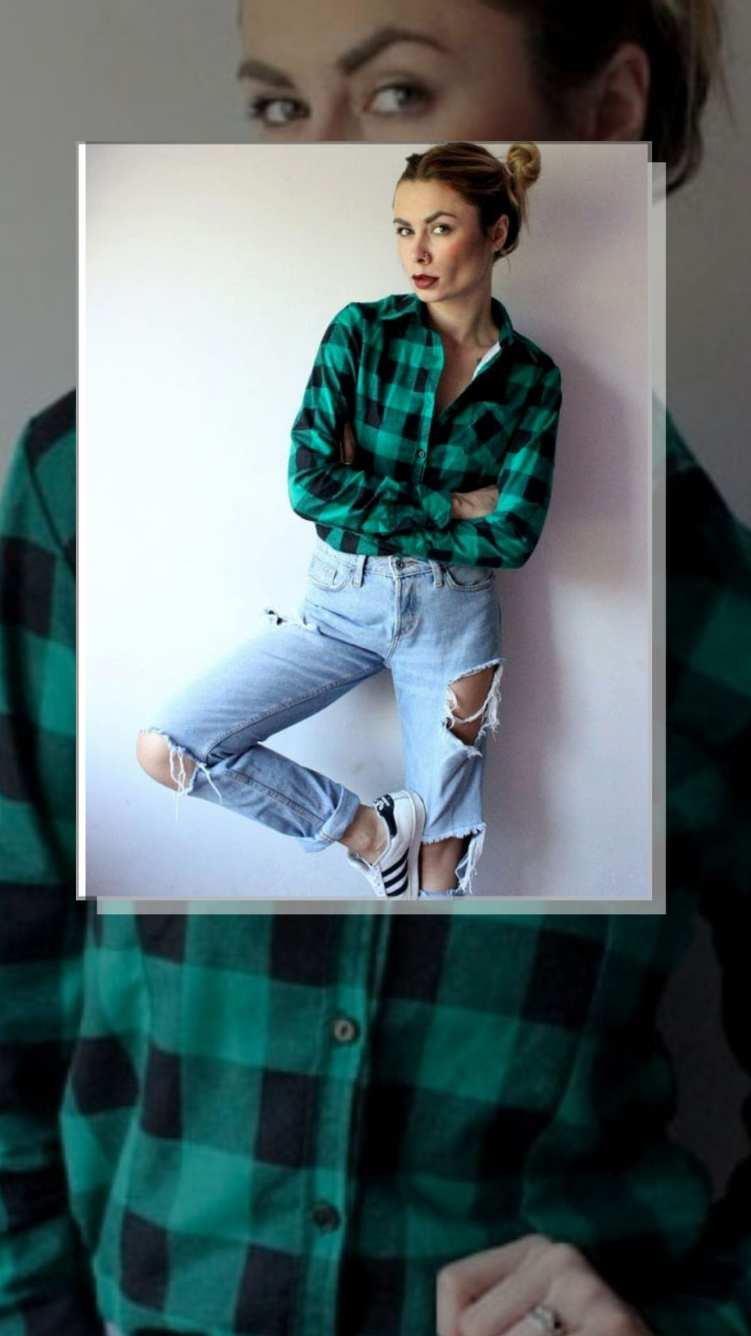 Koszula W Krate Zielona Flanela M Polski Producent 8477440661 Oficjalne Archiwum Allegro Long Sleeve Blouse Fashion Women S Top