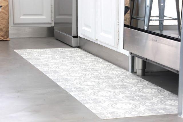 Mon tapis vinyle carreaux de ciment diy pinterest vinyle carreaux de ciment carrelage de - Vinyle carreaux de ciment ...