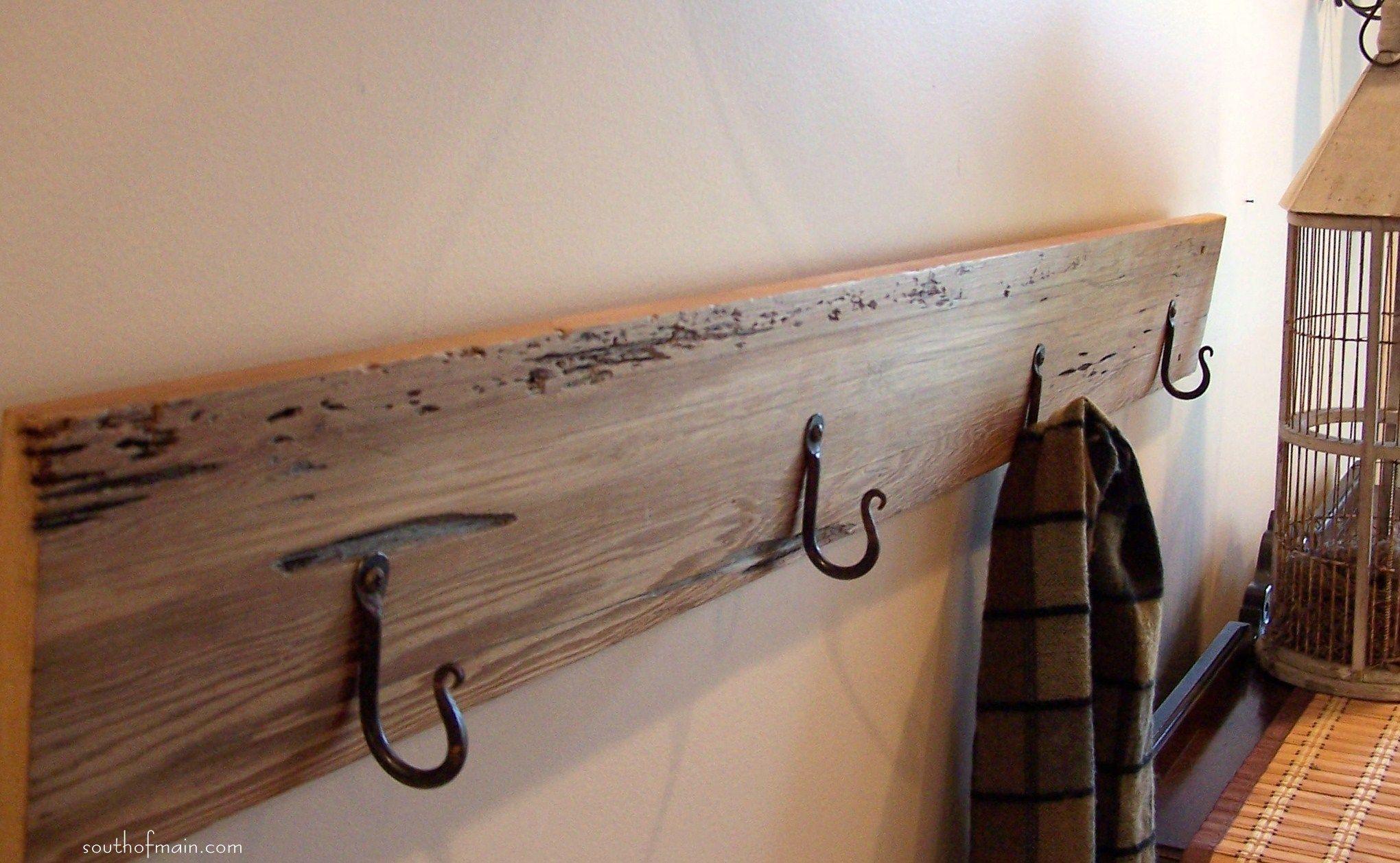 Featured Furniture Stunning Diy Wall Mounted Coat Rack With Black Rustic Coat Hook Design On Woo Coat Rack Wall Wall Mounted Coat Hanger Wall Mounted Coat Rack