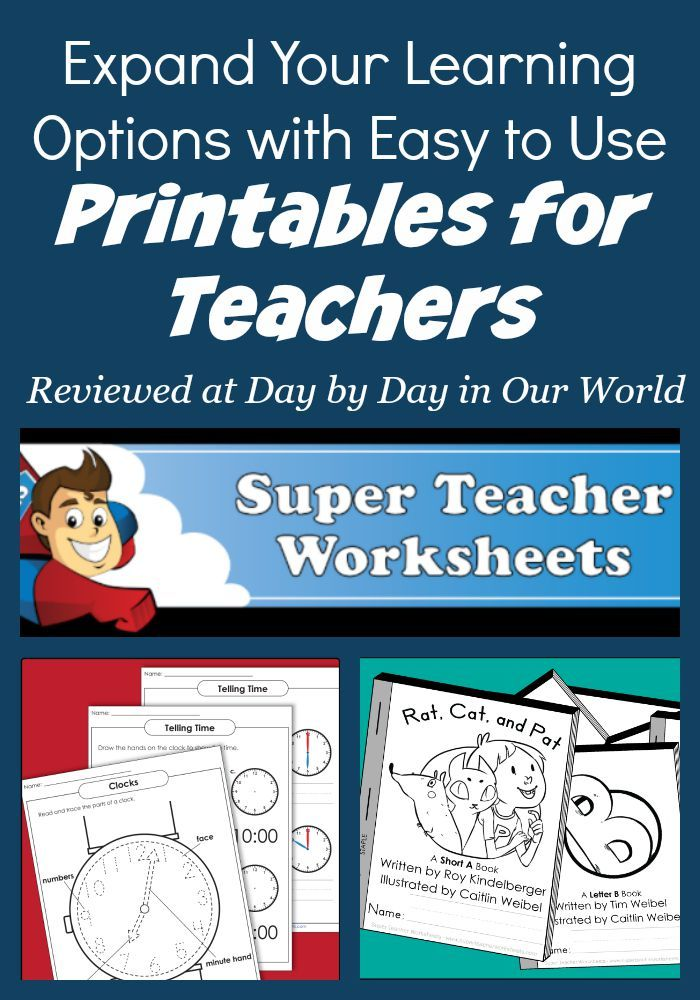 Easy to Use Printables for Teachers for Learning | Homeschool ...