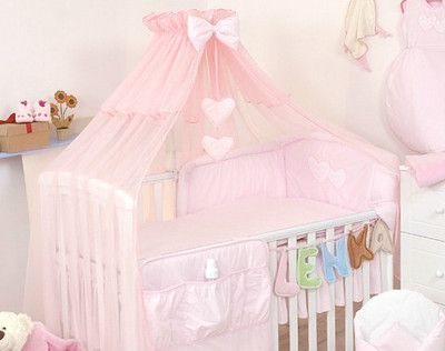 Baby Cot Bed Canopy & Luxury Baby Cot /Bed Cotton Sateen Bedding Set Canopy Drape ...