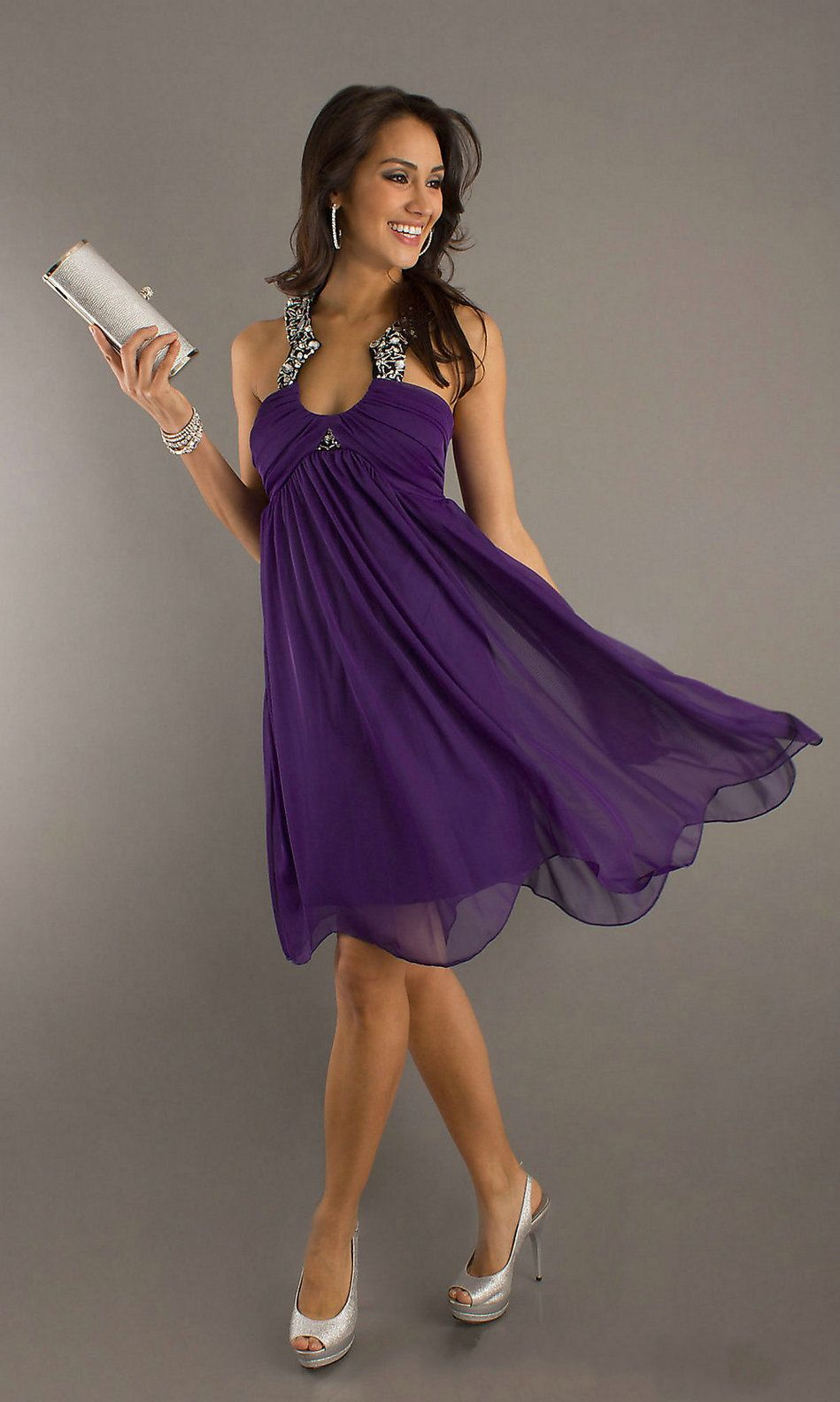 Top 25 ideas about Purple Cocktail Dress on Pinterest | Shorts ...