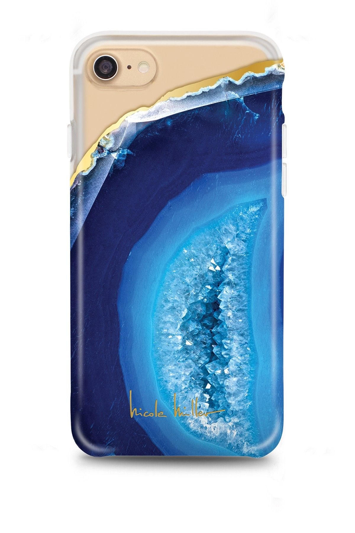 25f65083d3 Nicole Miller - Blue Geode iPhone 7 Case is now 63% off. Free Shipping on  orders over $100.