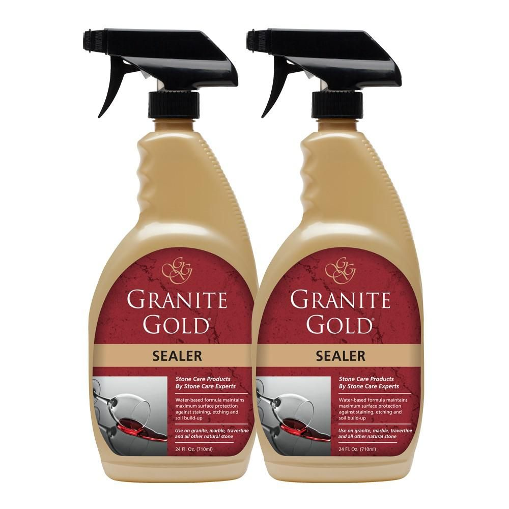 Granite Gold 24 Oz Sealer 2 Pack Granite Granite Cleaner How To Clean Granite