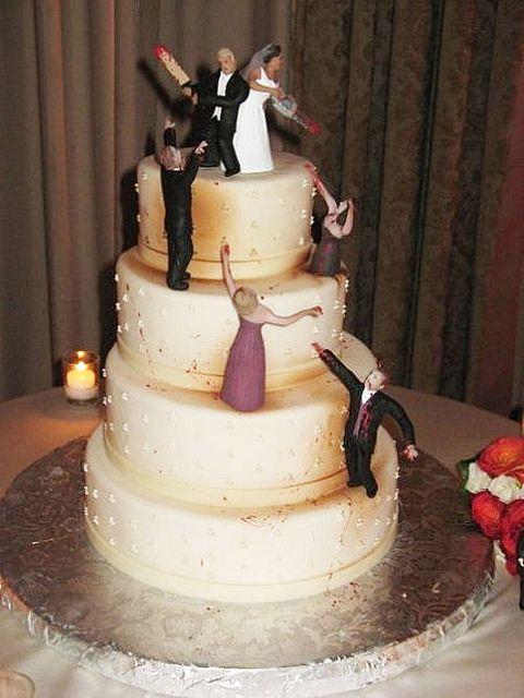 Zombies Wedding Cake Geeky Wedding Fun Hochzeitstorte