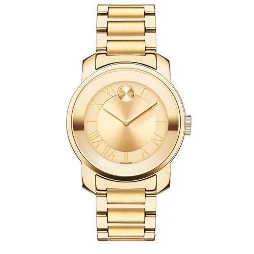 8157f2814e4 Relógio Movado Feminino Aço Dourado - 3600323