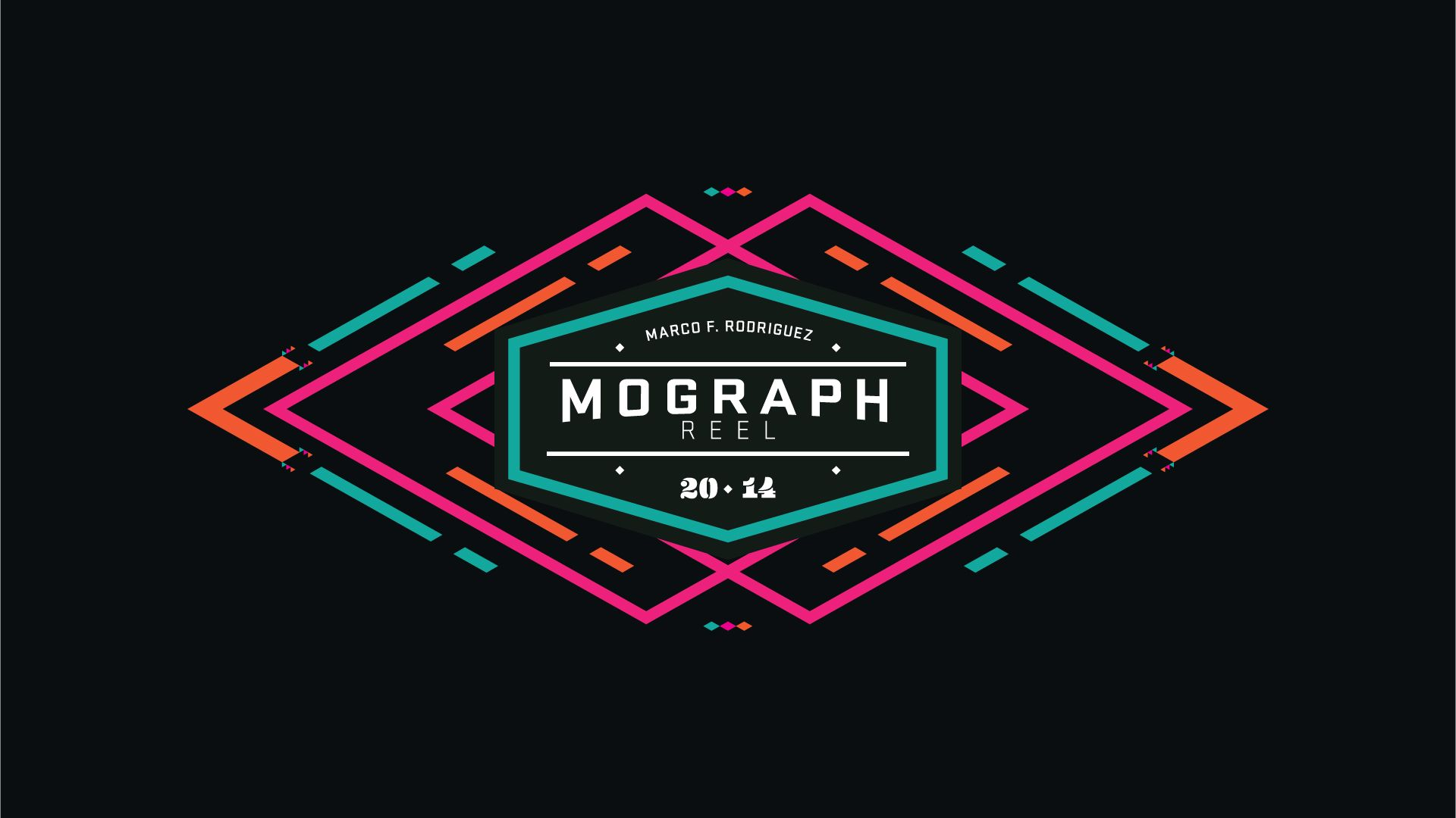 intro for 2014 mograph reel by Marco F. Rodriguez