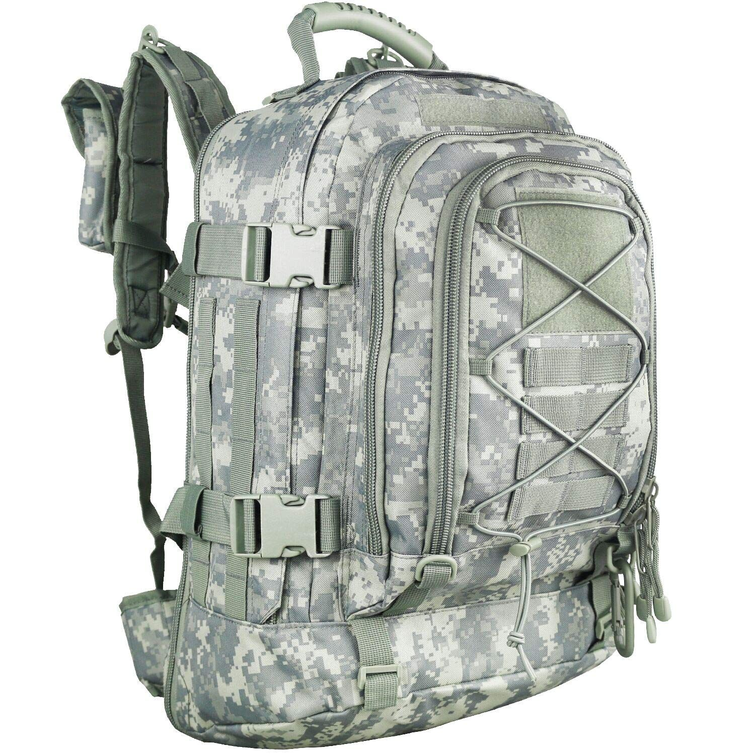 PANS Military Expandable Travel Backpack Tactical Waterproof Outdoor 3-Day Bag,Large,Molle System for School,Hiking,Camping,Trekking,Outdoor Sports,Work