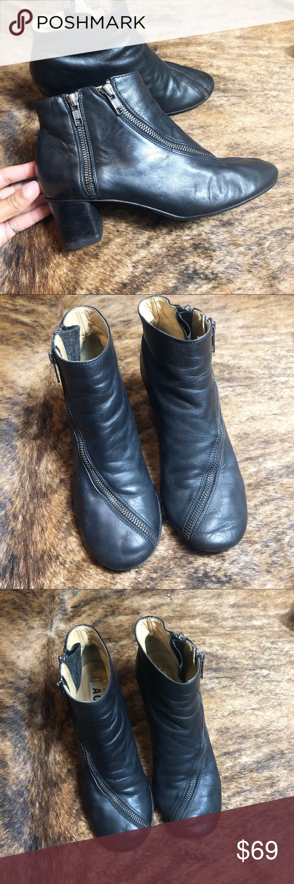 907e543dfed ACNE STUDIOS ankle Bootie Acne Studios Ankle Bootie size 9 (39) Black  leather boots