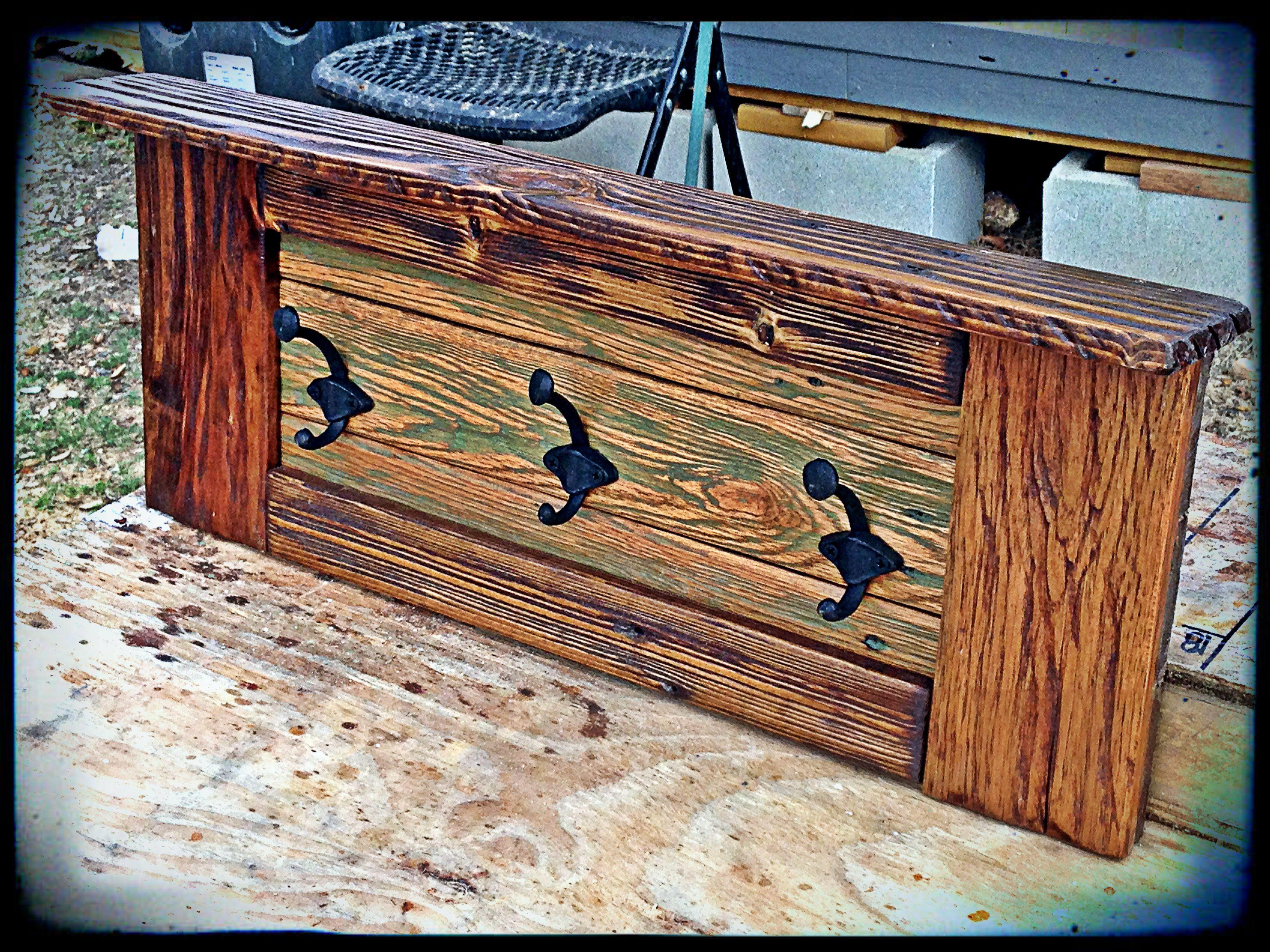 Pallet wood coat rack, PW009 #woodencoatrack #palletwood # ...