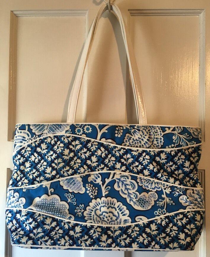 Vera Bradley Making Waves Tote Blue Lagoon Shoulder Beach Bag ...
