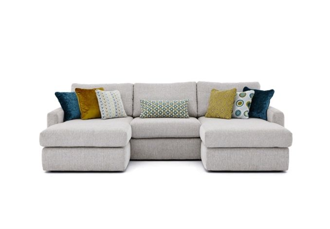 The 3 seater double chaise sofa offers new levels of comfort and