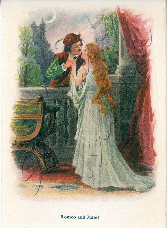 Romeo And Juliet 1917 Children S Shakespeare Book Illustration