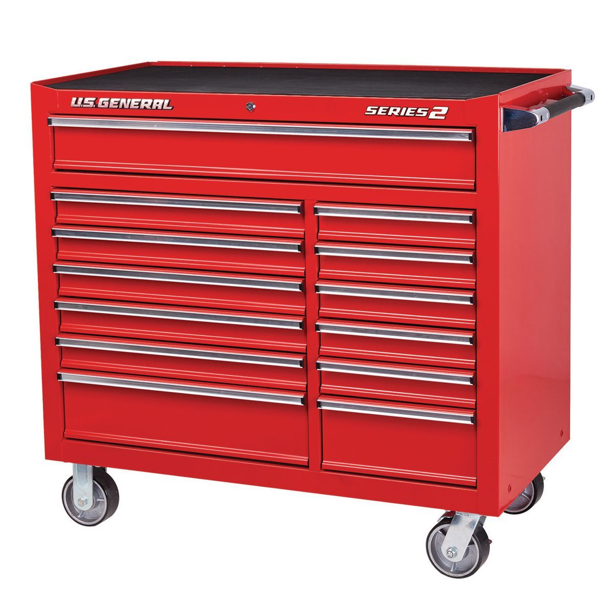 44 In X 22 In Double Bank Red Roller Cabinet Tool Chest Tool Cabinet Tool Storage