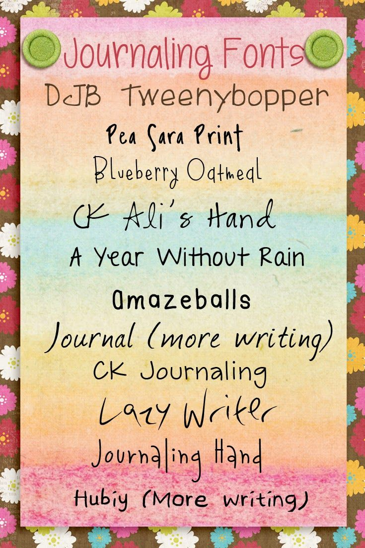 Journaling Fonts Etc By Danyale Journal Fonts Typography Fonts
