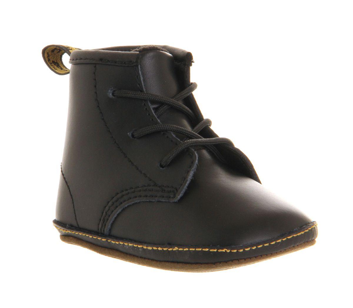 dec40b413ccc Dr. Martens Crib Bootie Auburn Black Leather - Unisex   Baby wish ...