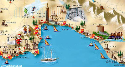 Antalya Turkey maps turkey travel map tourist map istanbul map
