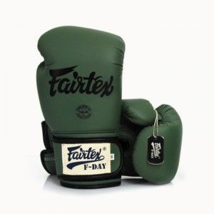 FAIRTEX MUAY THAI BOXING GLOVES F-DAY BGV11  MILLITARY GREEN MMA KICK F DAY