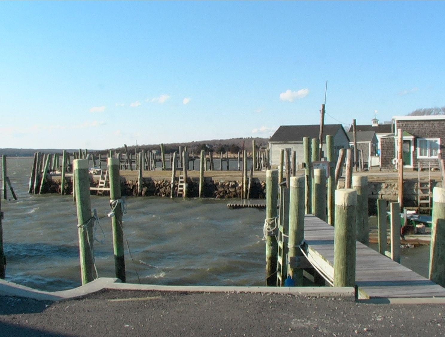 Dock at Westport Point.. Harbormaster shack