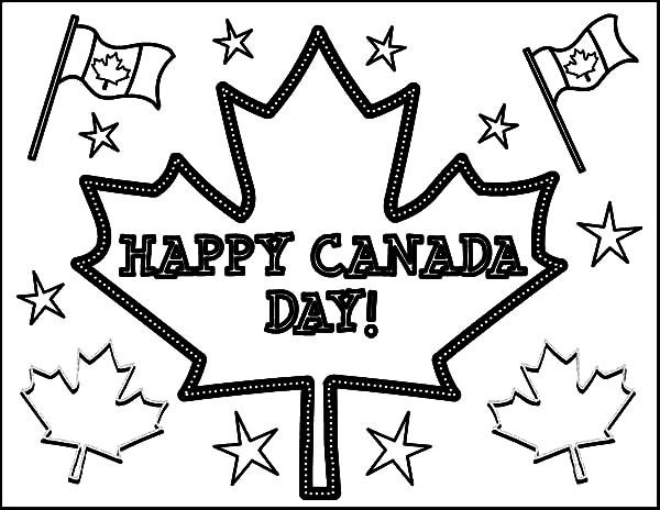 Joyful Celebration on National Canada Day Coloring Pages