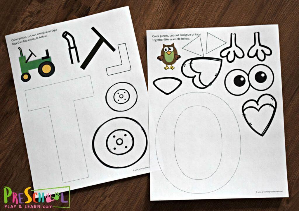 db1ca267590a7ae9a731f7b4c0b0a690 T Letter Craft Tractor Template on preschool horse, for preschoolers, free printable alphabet,