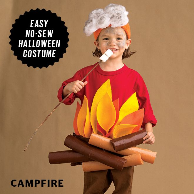 Felt + pool noodles + cotton batting = the key items you need to make the cutest little campfire ever!