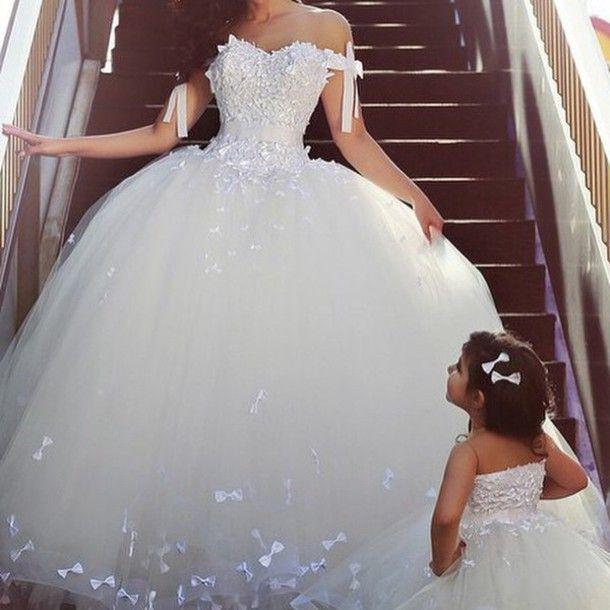 Aliexpress.com : Buy Romantic Bow Princess Ball Gown Wedding Dresses ...