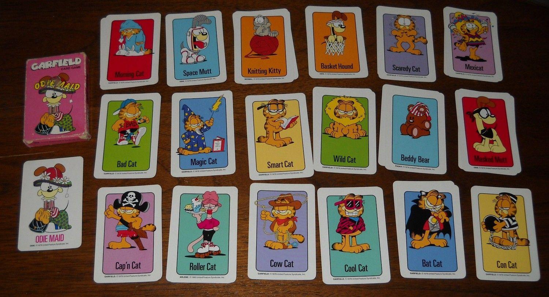 1978 GARFIELD cartoon Old Maid card game ODIE MAID. 10.00