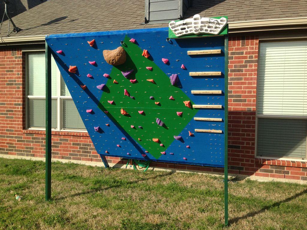 Backyard climbing and training wall climbing wall diy