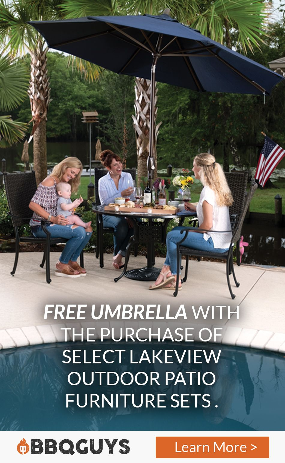 Receive A Free Umbrella And Base With The Purchase Of Select