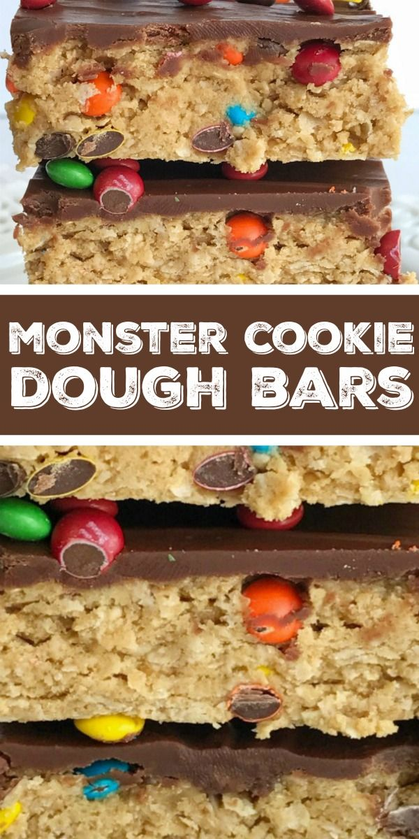 Monster Cookie Dough Bars | Together as Family