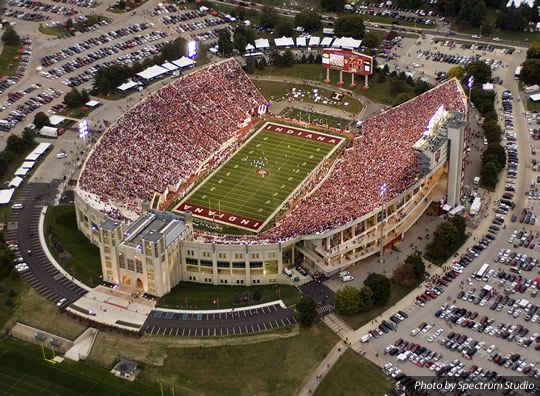 Pin By Laurie Seall On College Football Stadiums And Such Indiana University Indiana University Bloomington Indiana