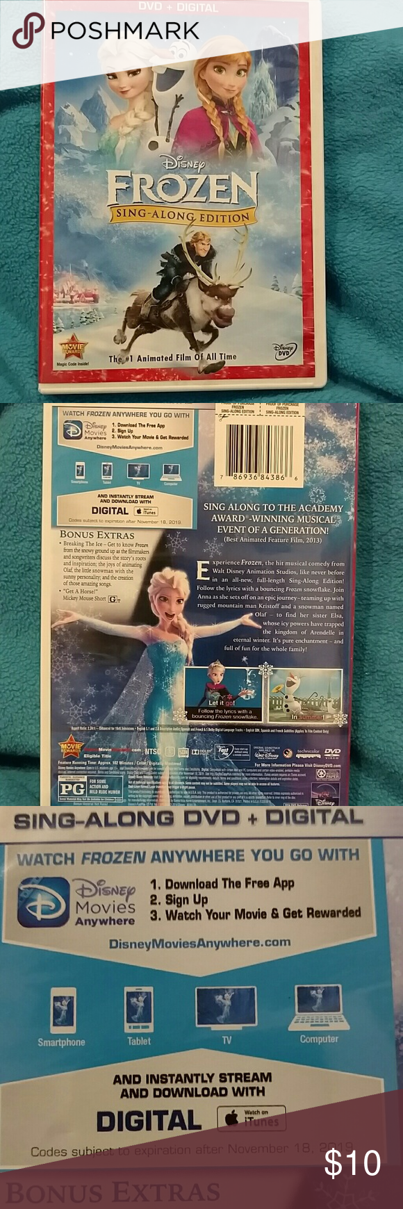 ✨NWOT,✨ Disney Frozen DVD It's open, just never got watched. Not a scratch on it! Disney Other