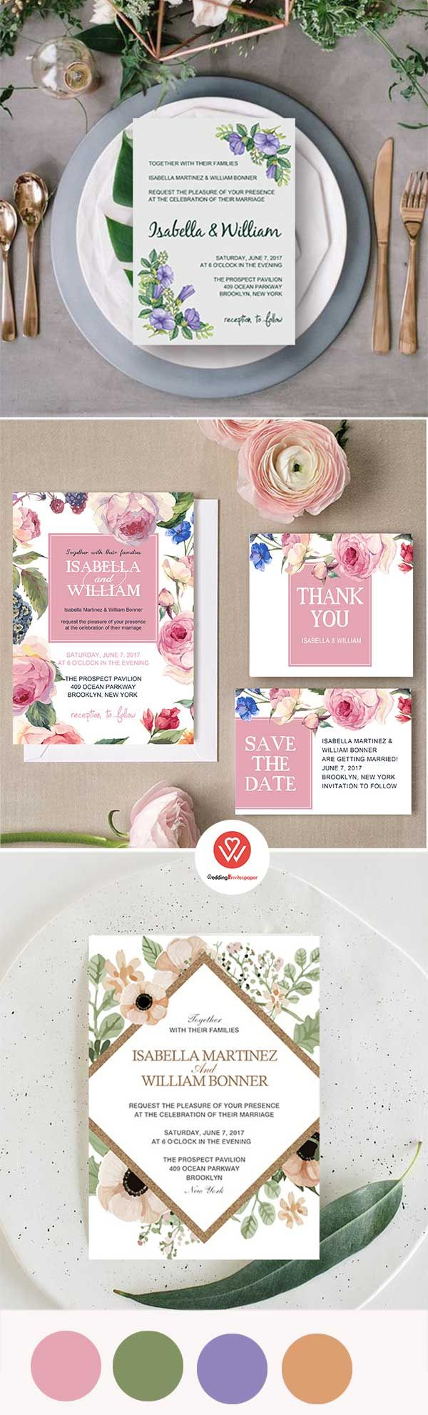 35 Unique Inexpensive Wedding Invitations From WIP - Wedding Invites ...