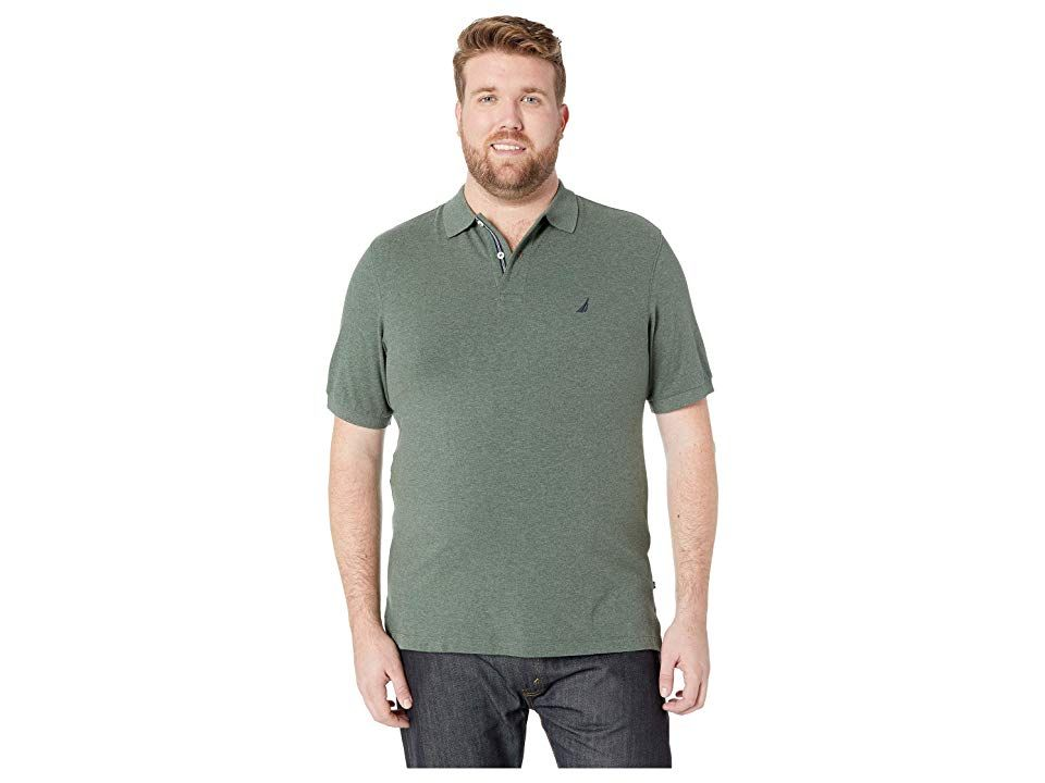 45bdc48c Nautica Big & Tall Big Tall Short Sleeve Solid Deck Shirt (Pine Forest)