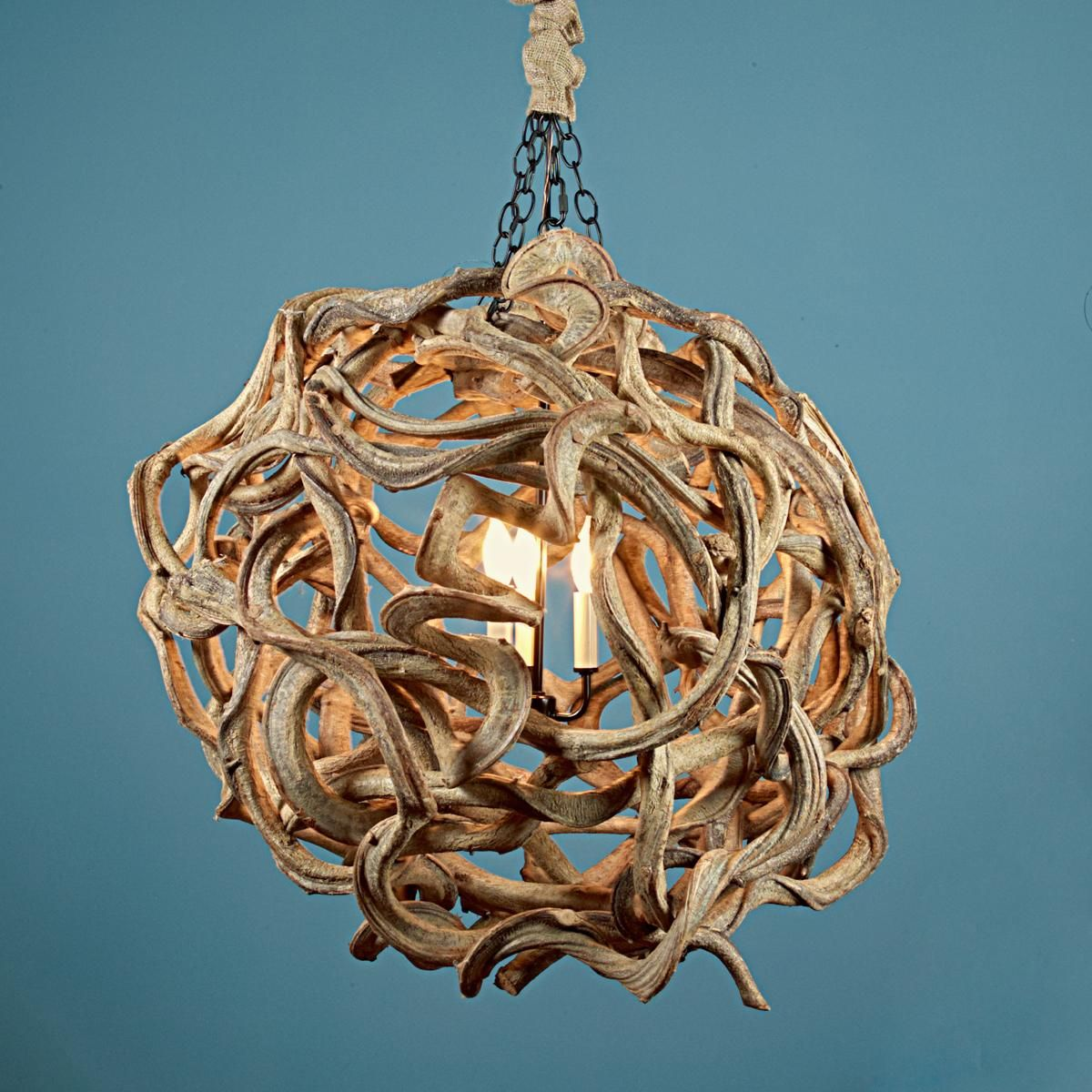This is a conversation starter for so many reasons eco friendly de vine wood ball chandelier aloadofball Image collections