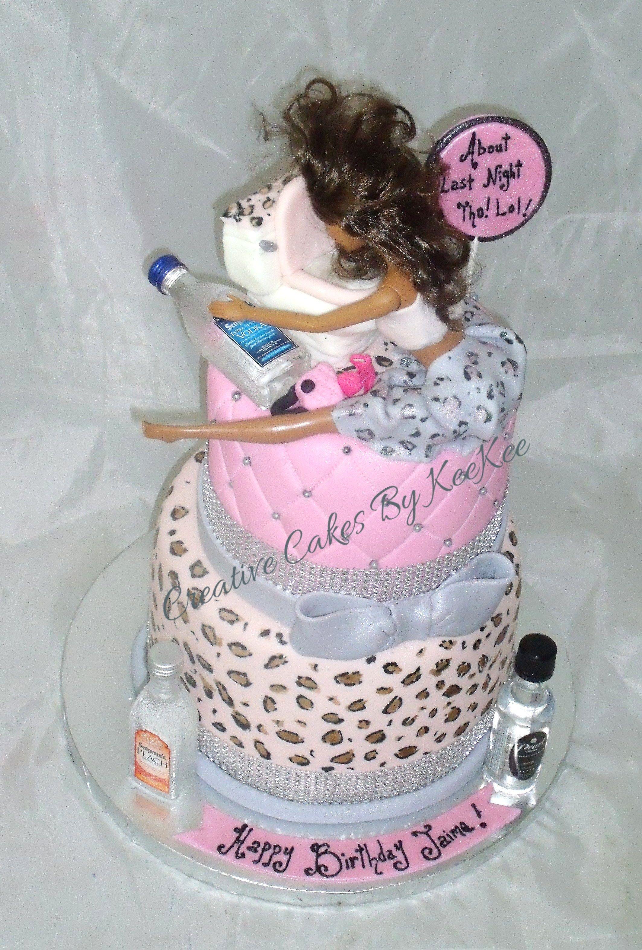 Drunk Barbie Cake Eativecakesbykeekee