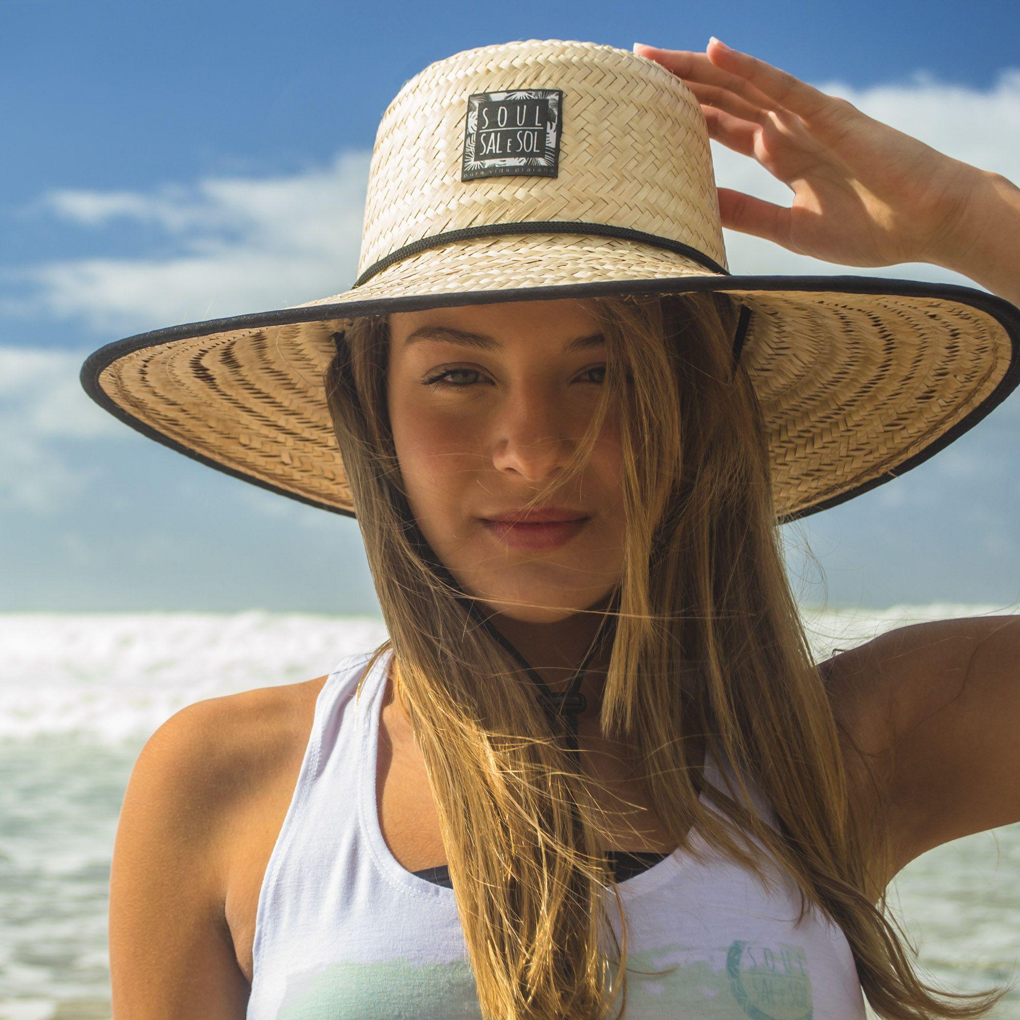 Chapéu de Palha Tradicional estilo Surf. Palha Dupla 94aa5990f86