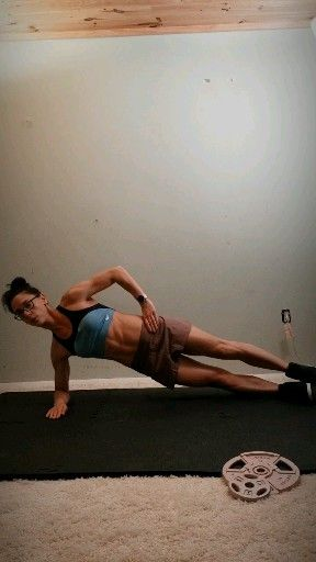 The best oblique exercise to sculpt your abs and cinch your waist #sideabworkouts