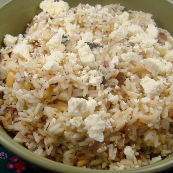 greek lemon and dill rice with feta rice cooker recette food healthy. Black Bedroom Furniture Sets. Home Design Ideas