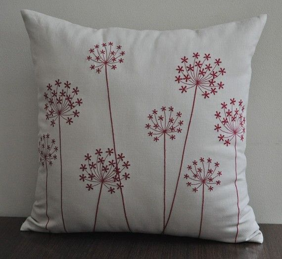 Pillow Cover Throw Pillow Cover Decorative Pillow By Kainkain Diy Embroidery Patterns Embroidery Flowers Pattern Decorative Pillow Covers