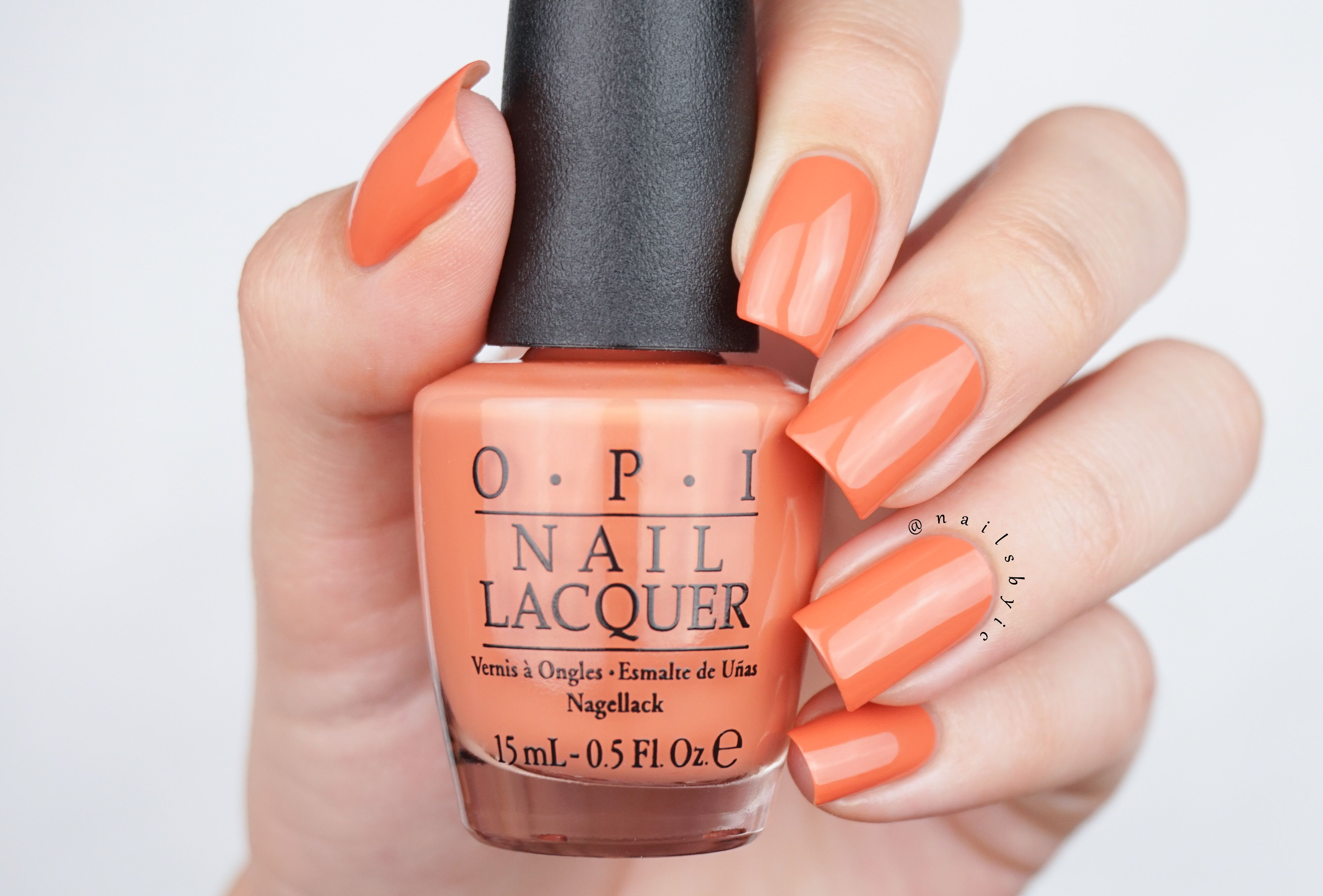 Freedom Of Peach From The Opi Washington Dc Fall Winter 2016 Collection Nail Art And Swatches Of The Whole Collection On Www Nailsbyic Com