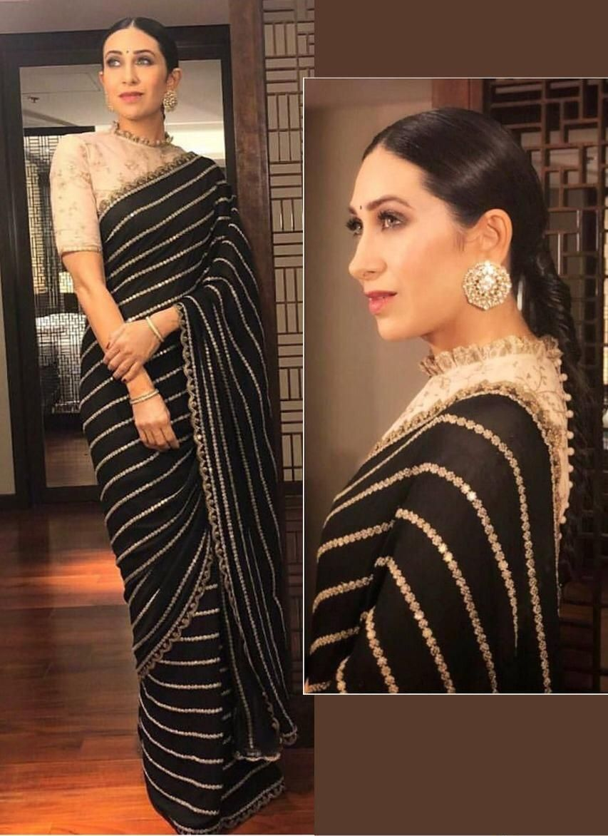 Designer Party wear saree with Blouse is part of Best Party Wear Blouse Designs With Images Styles At Life -  SCUTT    BEMBERG GEORGETTE BLOUSE    BENGLORI SILK  WORK    FANCY THREAD WORK WITH SEQUNCE WORK TYPE    SAREES