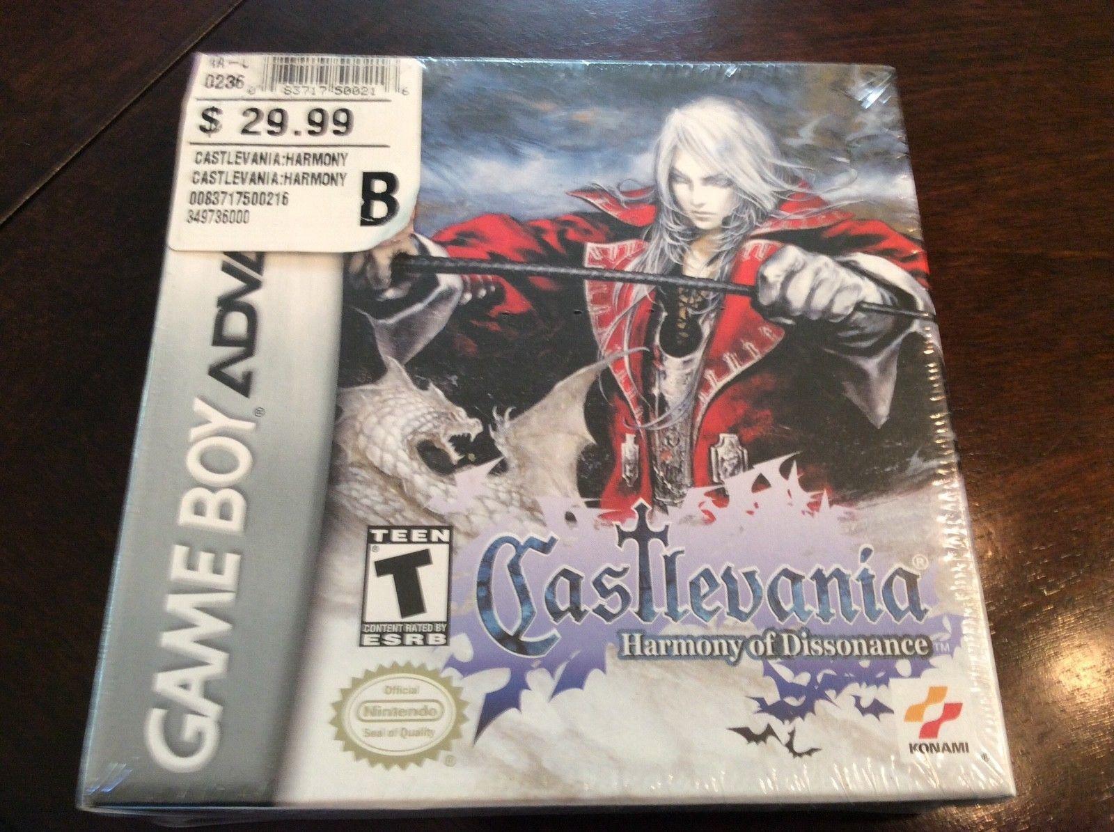 Castlevania Harmony Of Dissonance Nintendo Game Boy Advance GBA NEW Sealed 21995 End