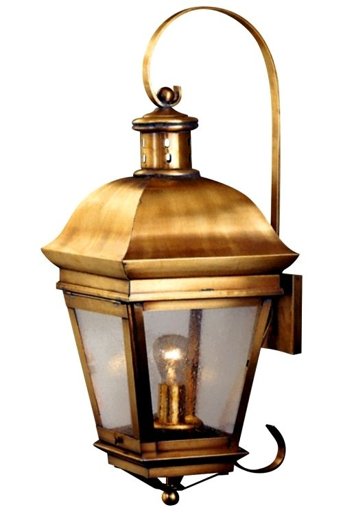 wall mount lantern brass outdoor lighting