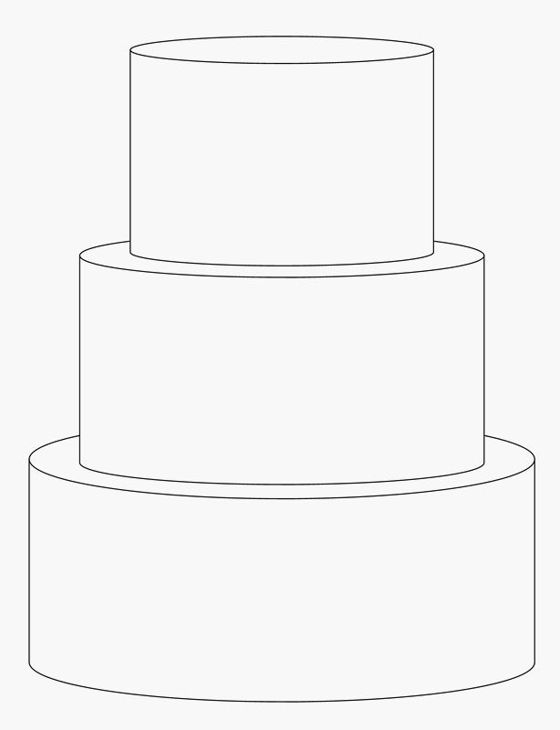 3 Tier Cake Template Cake Pinterest Cake Templates Tiered - Wedding Cake Outline